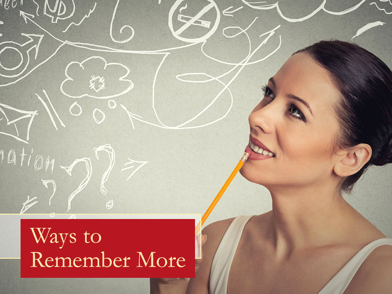 Ways to Remember More