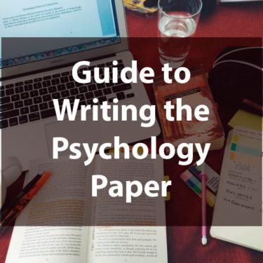 Writing Psychology Paper